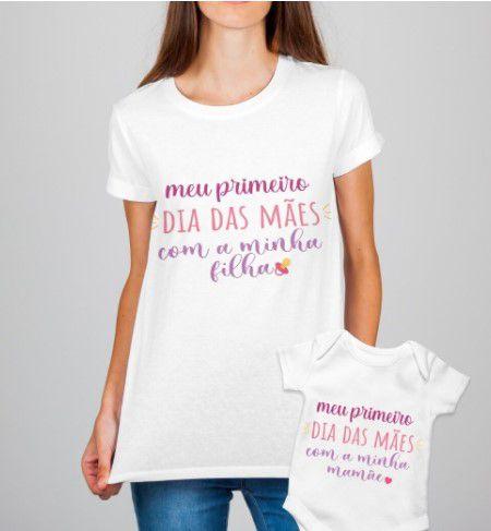 Kit 1 Dia das Mães - Camisa + Body
