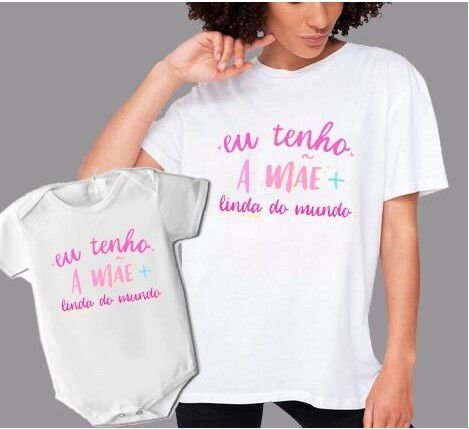 Kit 15 Dia das Mães - Camisa + Body