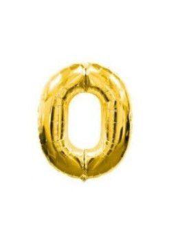 Balão Metalizado 100 cm - Dourado - Número 0