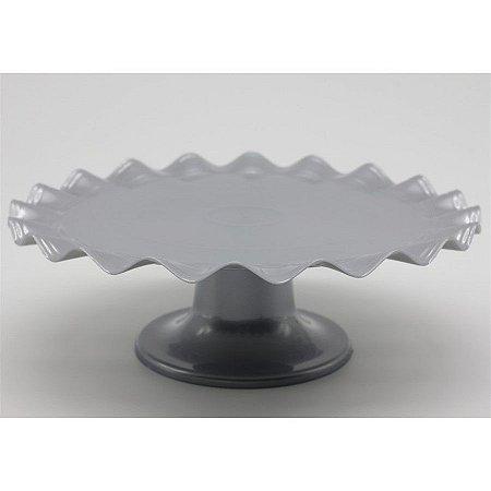 Boleira Ondulada - prata - 21cm