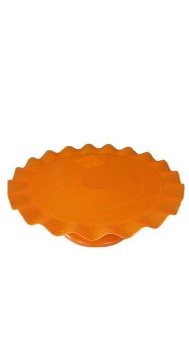 Boleira Ondulada - laranja flúor - 21cm