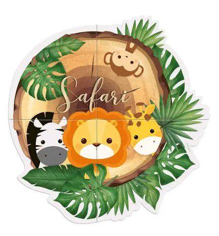 Painel 4 Folhas - Safari