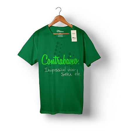 Camiseta – Impossível viver sem ele – Verde