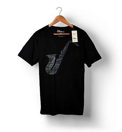 Camiseta – Saxofonistas – Preta