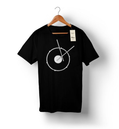 Camiseta – Baterista 1 – Preta