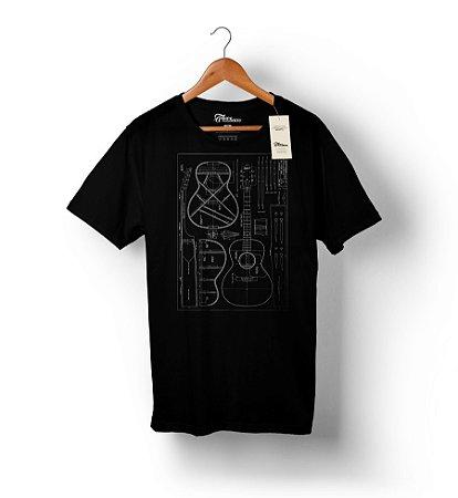 Camiseta – Violão 1 - Preta