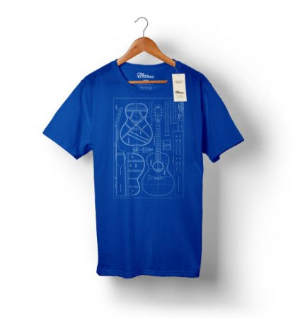 Camiseta – Violão 1 - Azul Royal