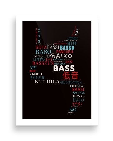 Quadro - Bass World - 20 X 30 cm