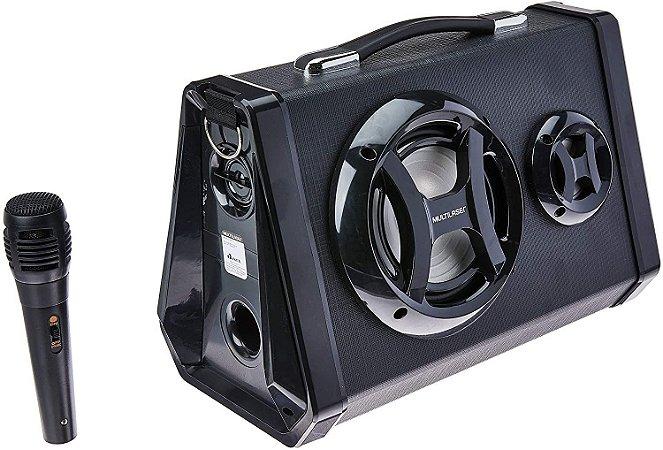 Caixa de Som Portátil Bluetooth e Karaoke