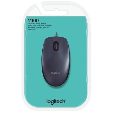 Mouse Óptico Logitech com fio
