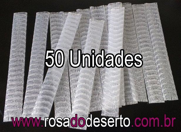 50 redes plasticas para proteção de vagens de sementes de rosa do deserto