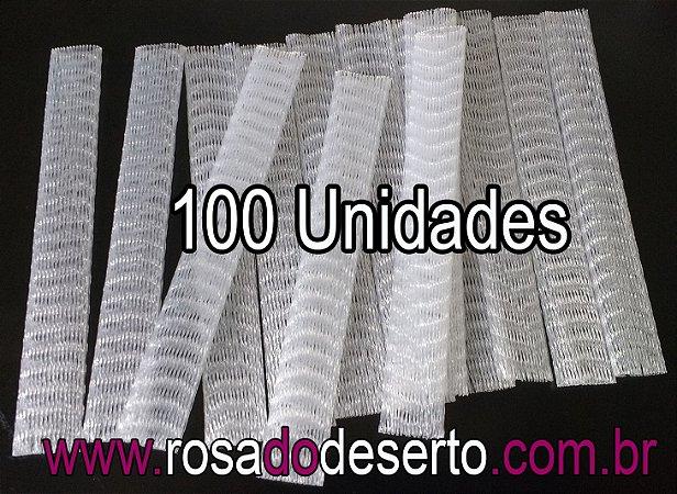 100 redes plasticas para proteção de vagens de sementes de rosa do deserto