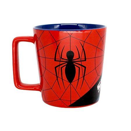 Caneca Herói Avengers Homem Aranha Spider Man Marvel Comics