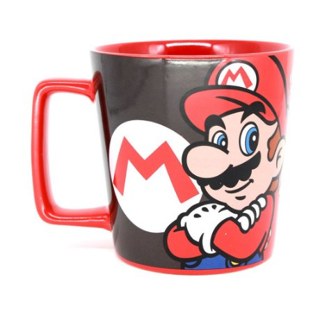 Caneca Buck Jogo Game Nintendo Mario Bros Cogumelo Mushroom