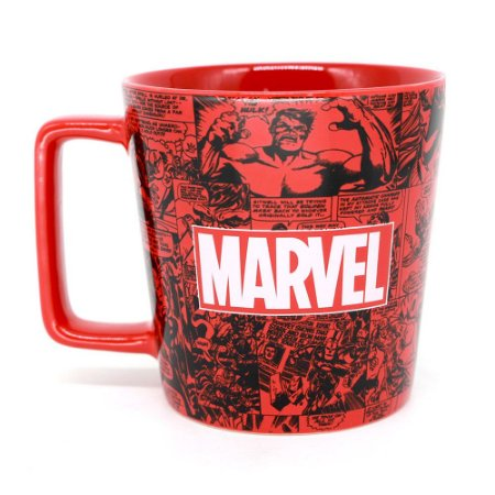 Caneca Buck Marvel Comics Classic Herois Avengers Vingadores
