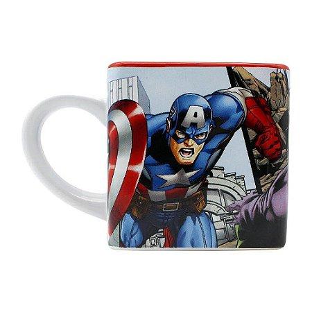 Caneca Cubo Avengers Hulk Capitão América Homem De Ferro