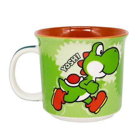 Caneca Tom Yoshi Jogo Super Mario Bros Video Game Nintendo