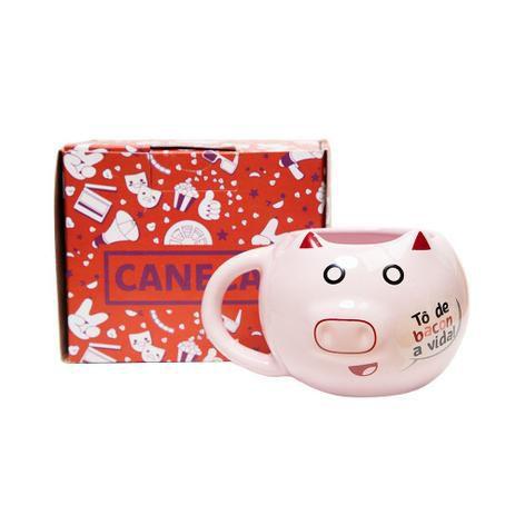 Caneca 3d Formato Porquinho Pig Frase To De Bacon Piticas