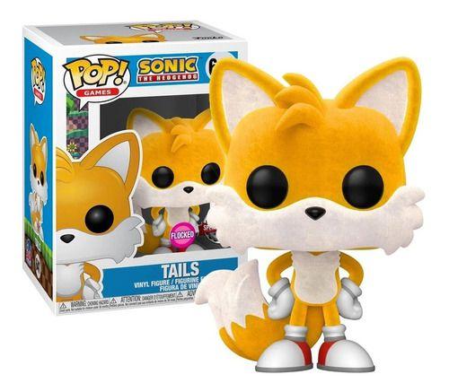 Boneco Funko Pop Games Tails Sonic Sega 641 Flocked