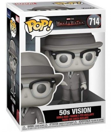 Boneco Funko Pop Movies Wanda Vision 50s Vision 714 Marvel
