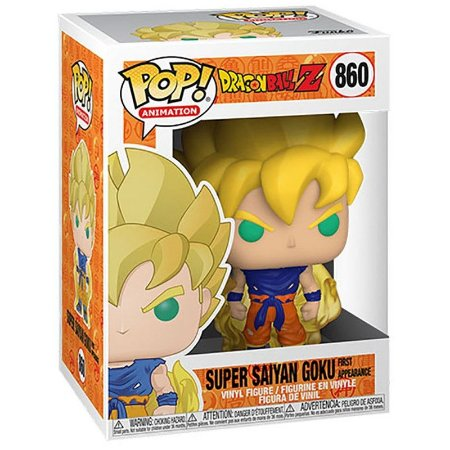 Boneco Funko Pop Dragon Ball Z Goku Super Saiyajin 860 First