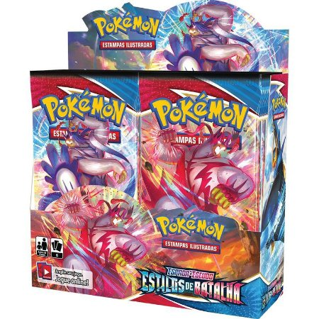 Caixa Booster Box 36 Pacotes Estilos De Batalha Pokémon Tcg