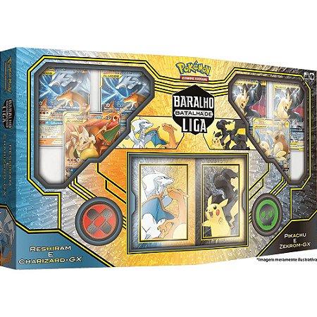 Jogo Cartas Box Pokémon Batalha De Liga Pikachu E Zekrom Tcg