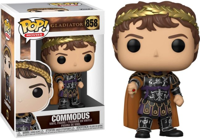 Boneco Funko Pop Movie Commodus 858 Gladiador Gladiator Cine