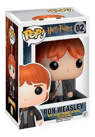 Boneco Funko Pop Ron Weasley 02 Harry Potter Bruxo Varinha