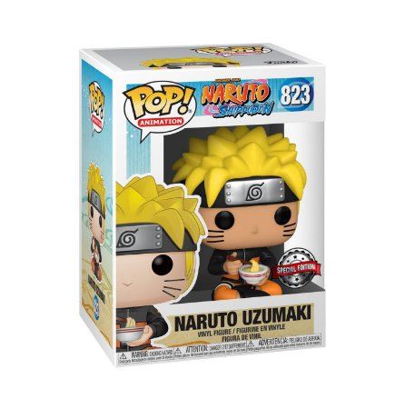 Boneco Funko Pop Anime Naruto Uzumaki 823 Noodles Lamen Ex