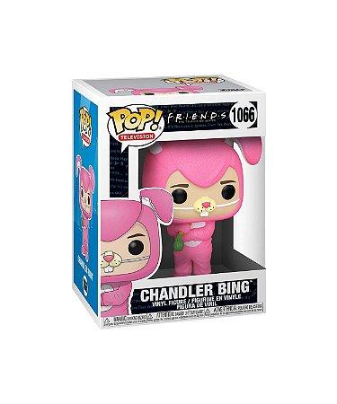 Boneco Funko Pop Serie Friends Chandler Bing 1066 Bunny Rosa
