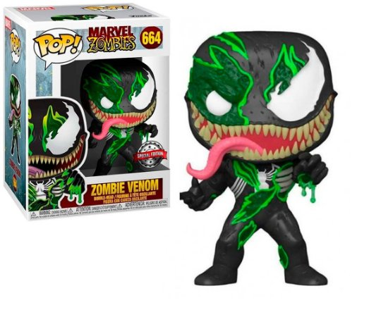 Boneco Funko Pop Marvel Zombie Venom 664 Spider Man Ex