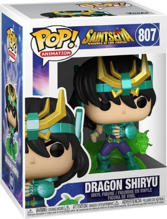 Boneco Funko Pop Anime Saint Seiya Dragon Shiryu 807 Cdz
