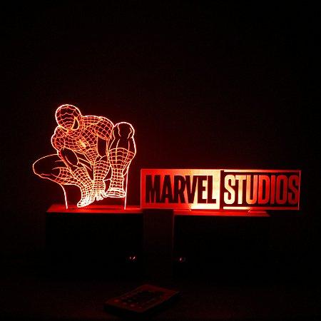 Luminária Marvel Homem Aranha
