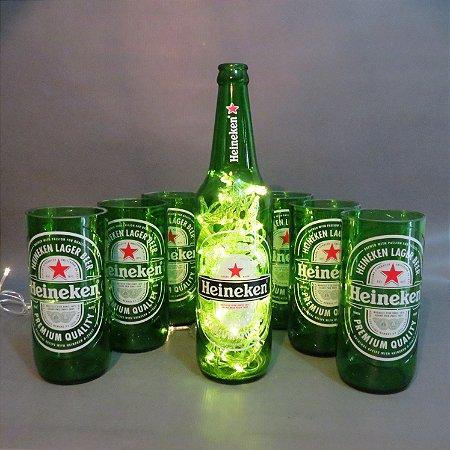 Kit Copos Heineken 500 ml + Luminária - Led ou Pisca