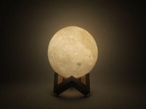 Luminária lua 3D