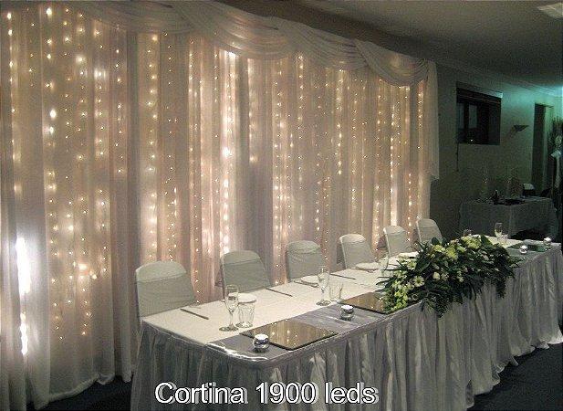Cortina de Led Para Decoração de Festas, Casamentos e Aniversários
