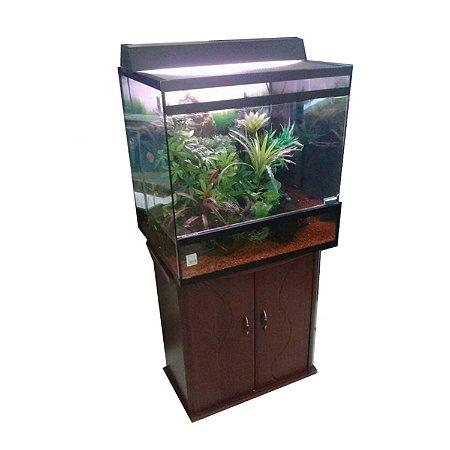 Terrário Aquaterrario para Tartaruga e Anfíbio