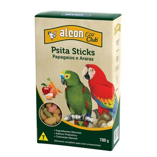 Ração Alcon Eco Club Psita Sticks Papagaio e Arara 700g