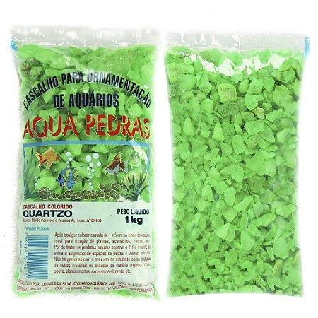 Substrato Cascalho de Quartzo Verde Aqua Pedras