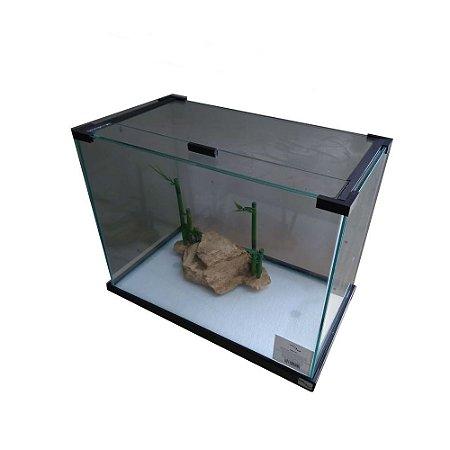 Aquaterrário Para Tartaruga Com Plataforma em Resina Decorada 36 Litros