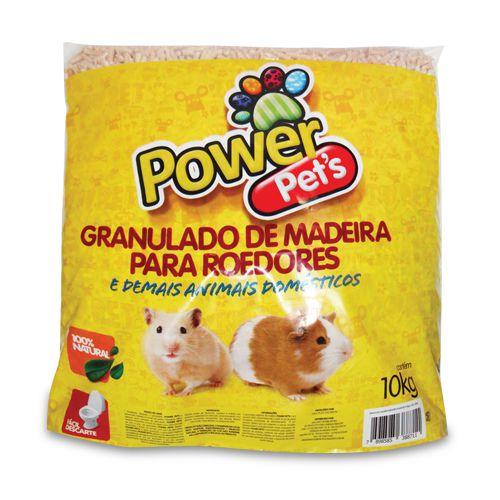 Granulado De Madeira Power Pets Para Roedores Em Geral 10kg