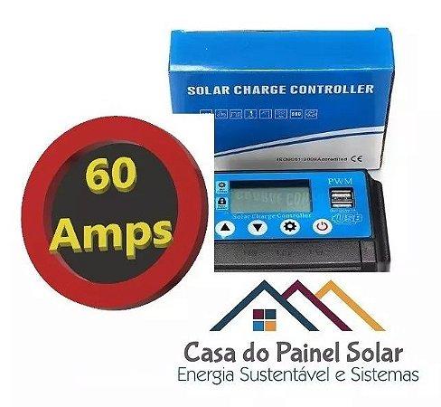 Controlador de Carga 60 amperes LCD