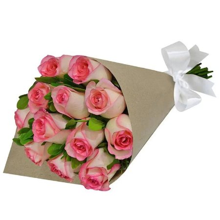 Ramalhete Rosê com 12 Rosas