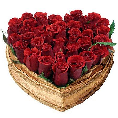 Coração de rosas