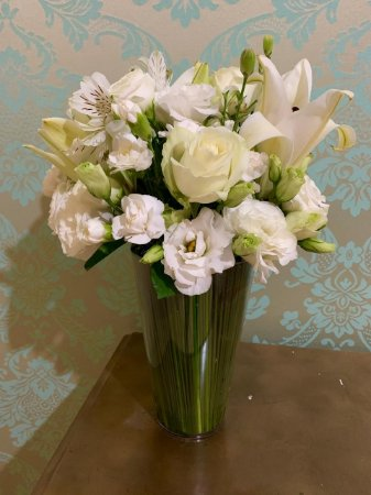 Mix de Flores Brancas o Vaso