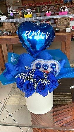 Box flowers azul