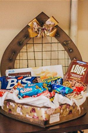 Mini Baú de Coração c/ Chocolate