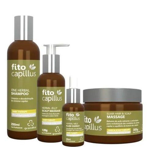 Grandha Kit Fito Capillus Fine Herbal Terapia Capilar 4 Produtos