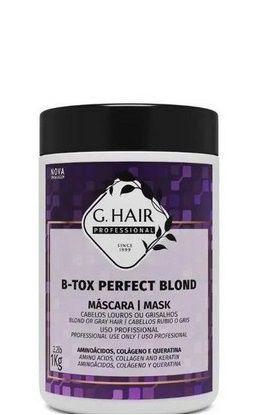 G.Hair B-Tox Perfect Blond Máscara Redutora P/ Loiras 1Kg